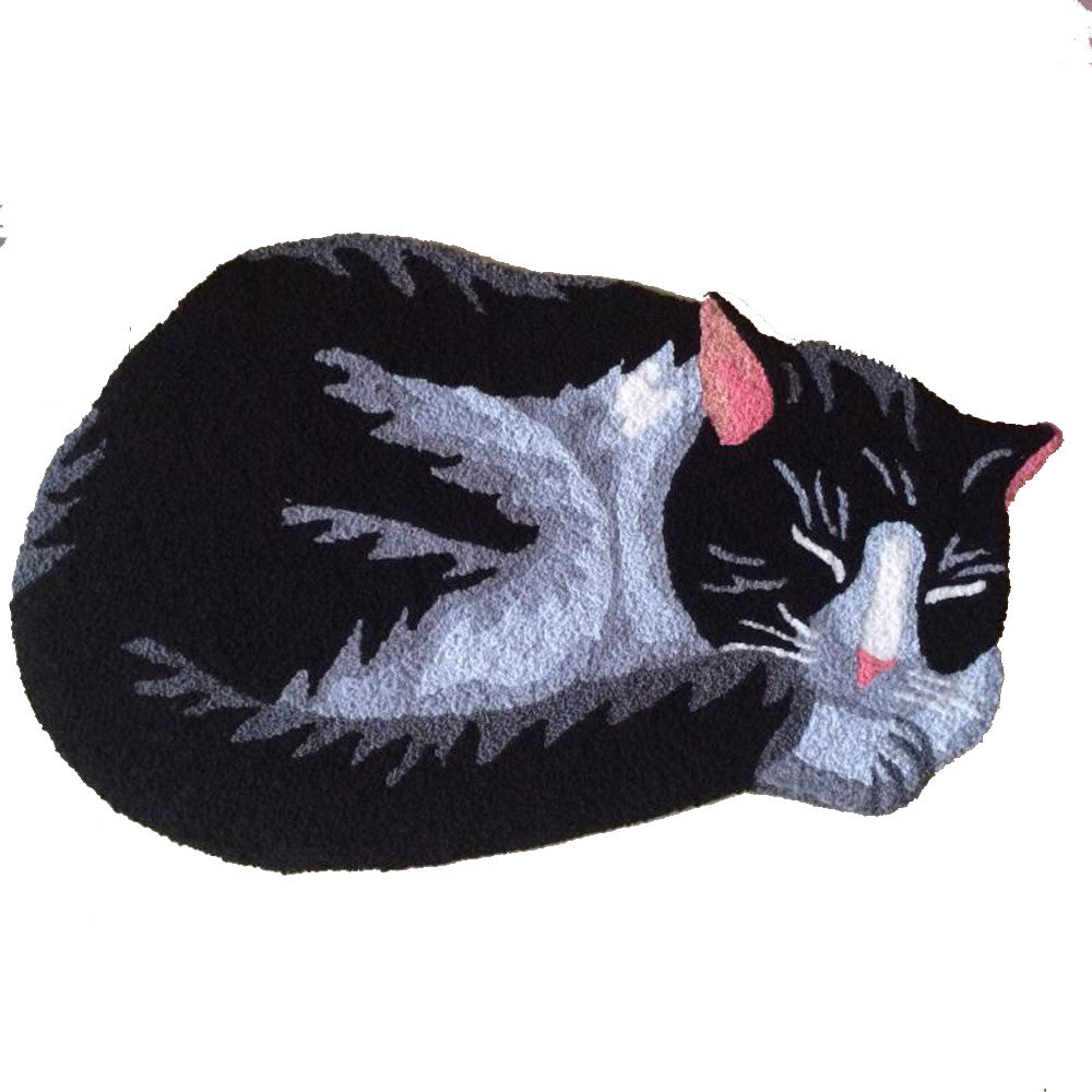 Embroidery Cute Black Cats Doormat