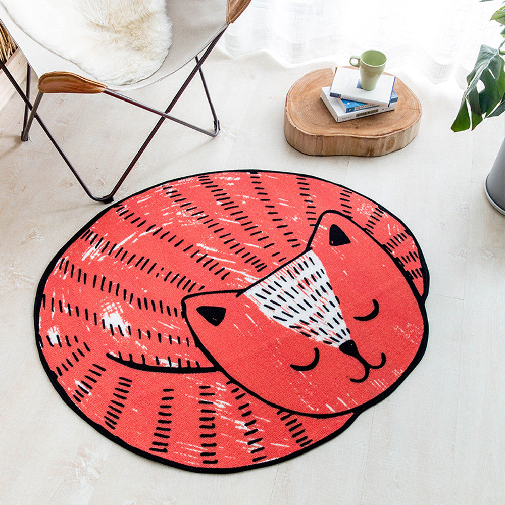 Sleeping Cat Non-Slip Rug Floor Mat