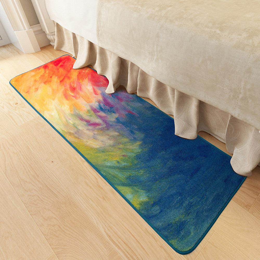 Abstract Art Oil Painting Kitchen Rug