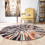 Geometric Abstraction Round Rug