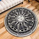 Sun God/Maya/Constellation Design Round Rug