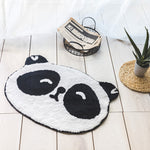 Cartoon Panda / Fox Shaped Bathroom Mat