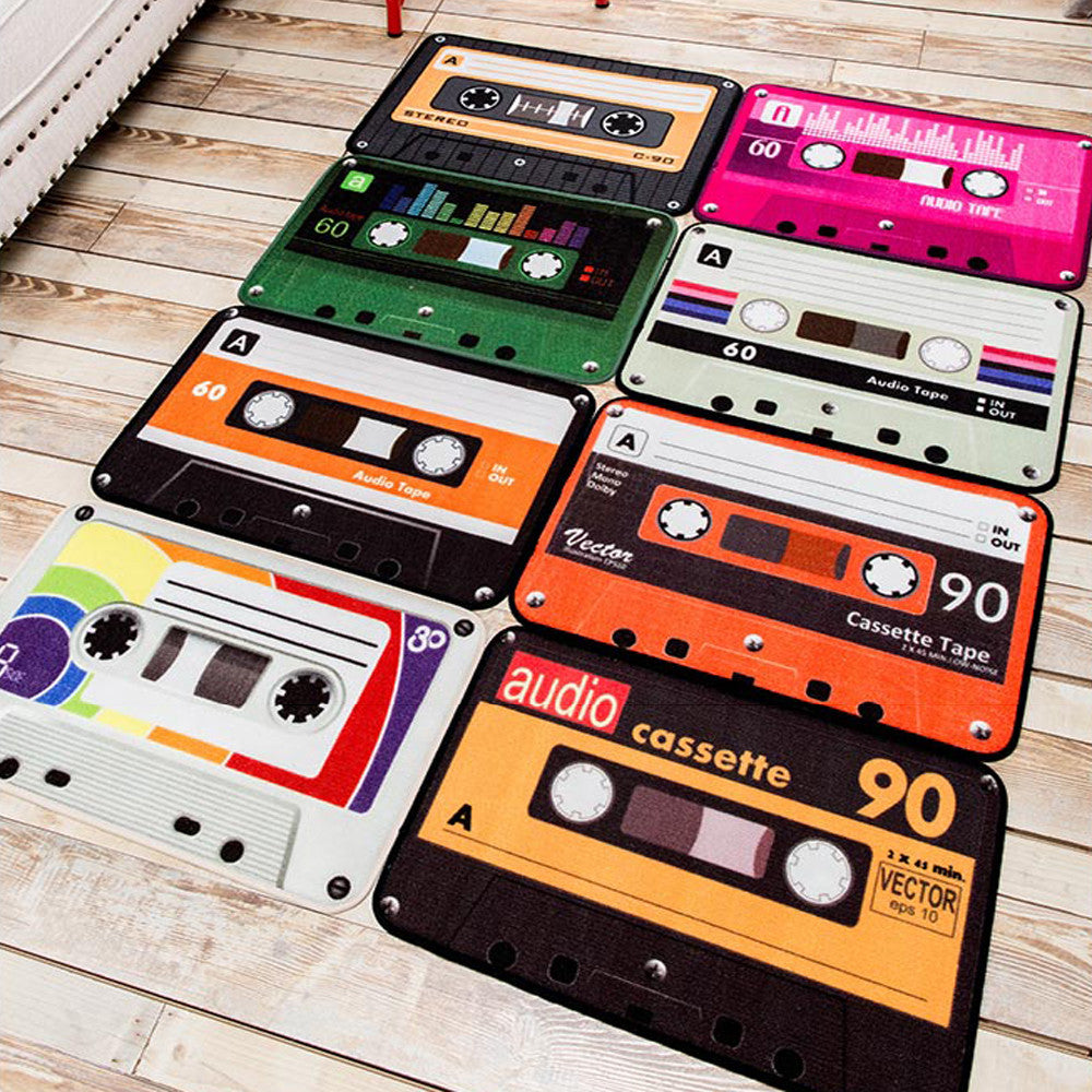 Retro Nostalgia Tape Floor Mat