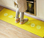 2 Pieces 3D Donuts/Lemon Kitchen Rug