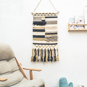Handmade Weave Abstract Bohemian Style Hanging Blanket