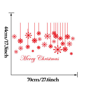 Merry Christmas Snowflake Pattern DIY Wall Sticker