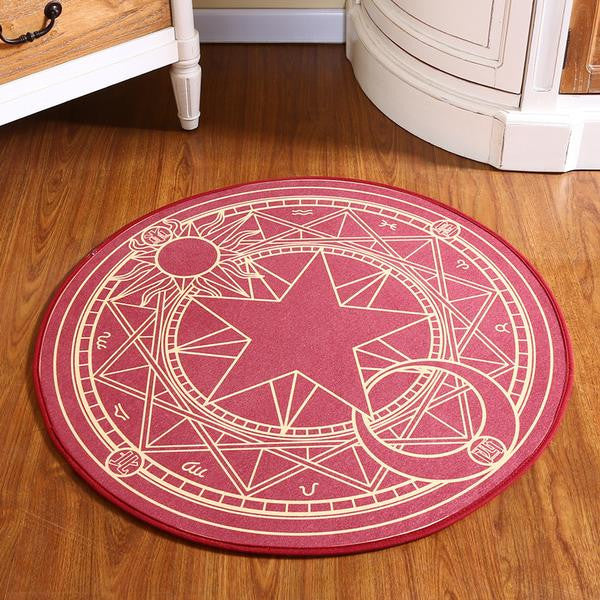 Sakura Magic Circle Round Rug