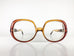 CHRISTIAN DIOR Vintage Eyeglasses Women Brown Plastic Oversized 1970s CHRF490H-6