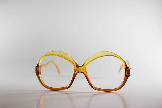Christian Dior Optyl 2036-10Germany CE 54-13-135 Unisex Yellow Plastic Glasses