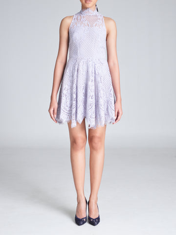 EVA HALTER LACE DRESS