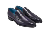 dominique saint paul alex loafer cobalt fuxia
