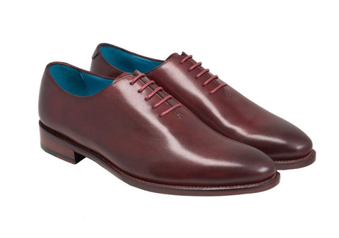 dominique saint paul whole cut aristocrat modele dark burgundy with sole profile