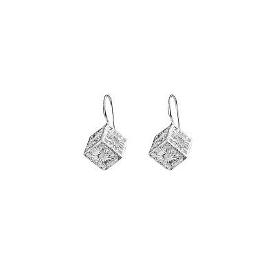 MADRIGAL SILVER CUBES EARRINGS