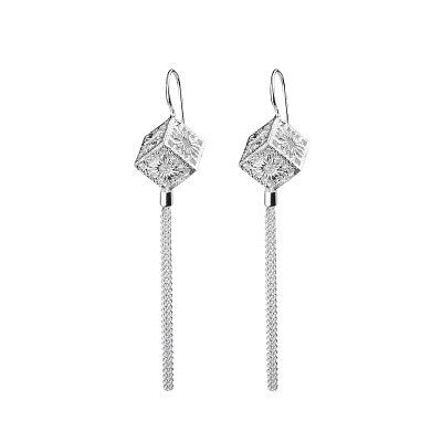 MADRIGAL SILVER CUBES PENDANT EARRINGS