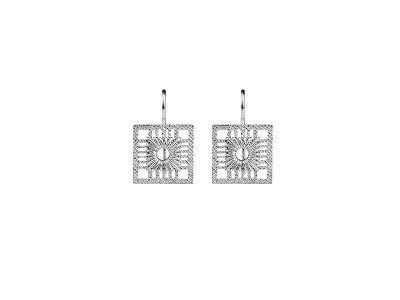 MADRIGAL MINI HIPPY SILVER EARRINGS