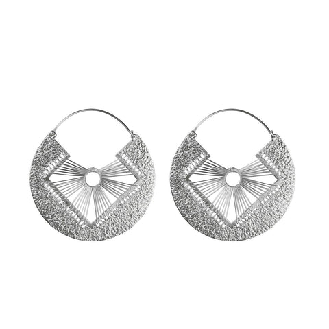 ARGOLLA 6 PETALOS SILVER EARRINGS