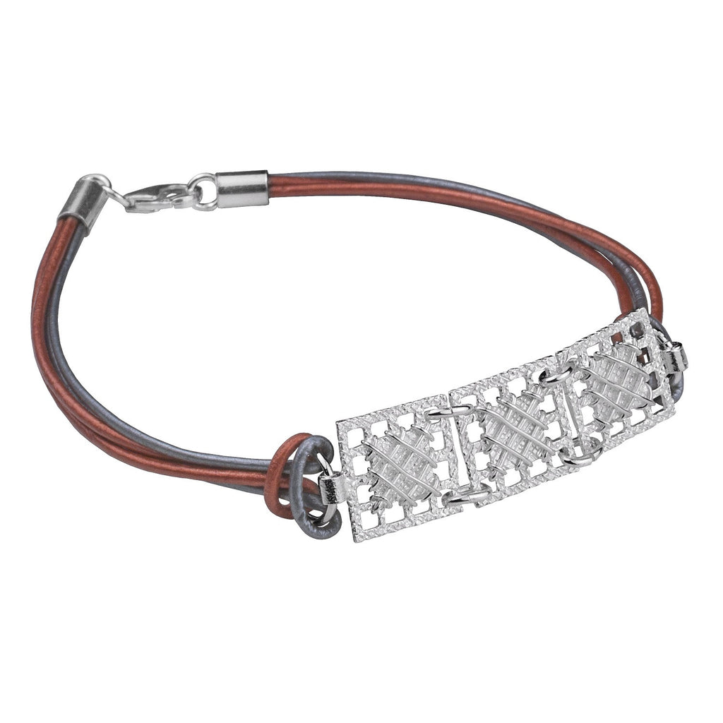 TACHONES NANO 3P LEATHER BRACELET