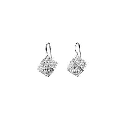 TACHONES SILVER CUBES EARRINGS