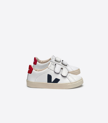 ESPLAR SMALL VELCRO LEATHER EXTRA WHITE NAUTICO PEKIN