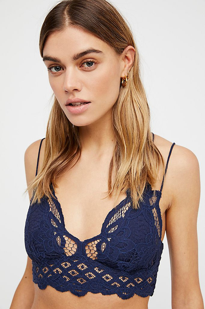Free People Adella Bra in Nude, Navy and Blue