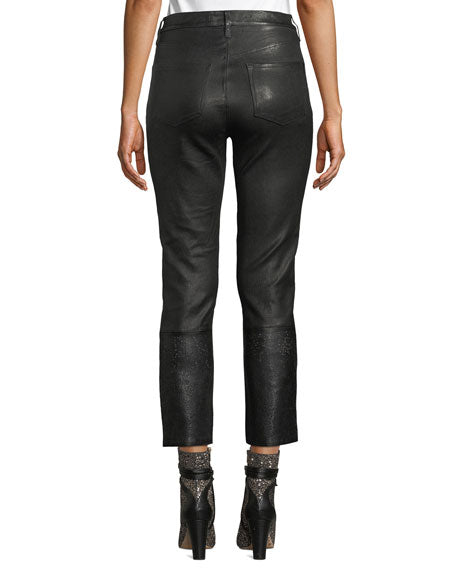 J Brand Ruby High Rise Leathers in Black