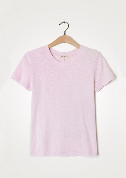 American Vintage rdn col tee sonoma in White, Baby Lilas and Sandstone