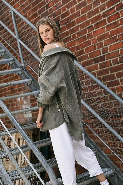 Free People Ruby Jacket Dirty Olive