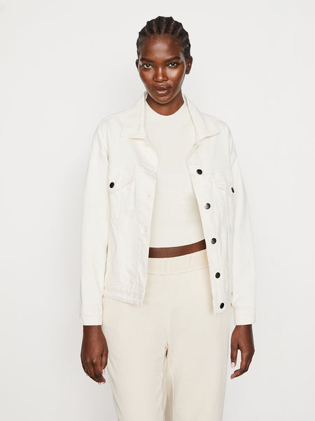 Frame Le Oversized Jacket Natural