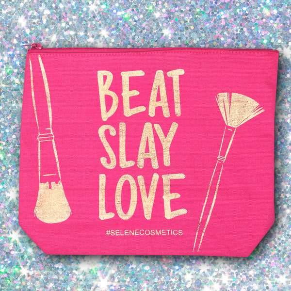 Makeup Bag - Beat, Slay, Love
