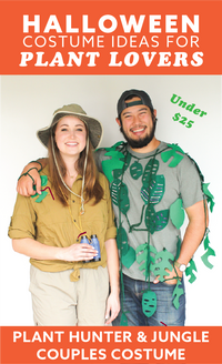 Halloween Houseplant Costume: Plant Hunter & Jungle Couples Costume!
