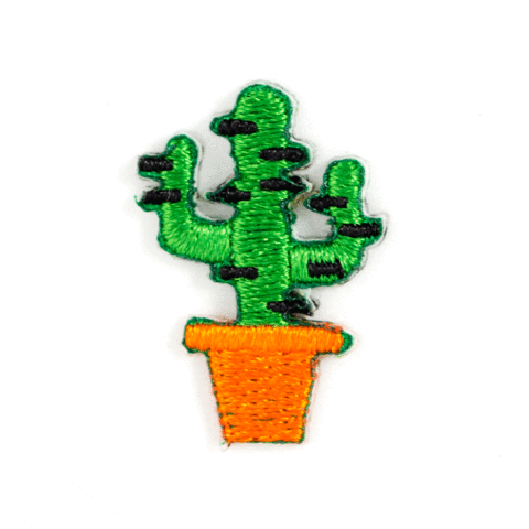 Cactus Embroidered Sticker Patch