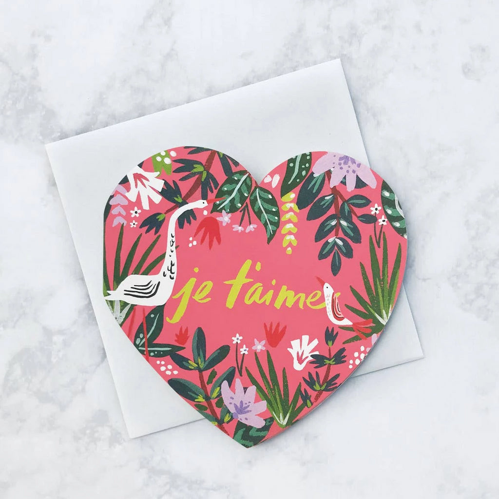 Je T'aime Jungle Diecut Card