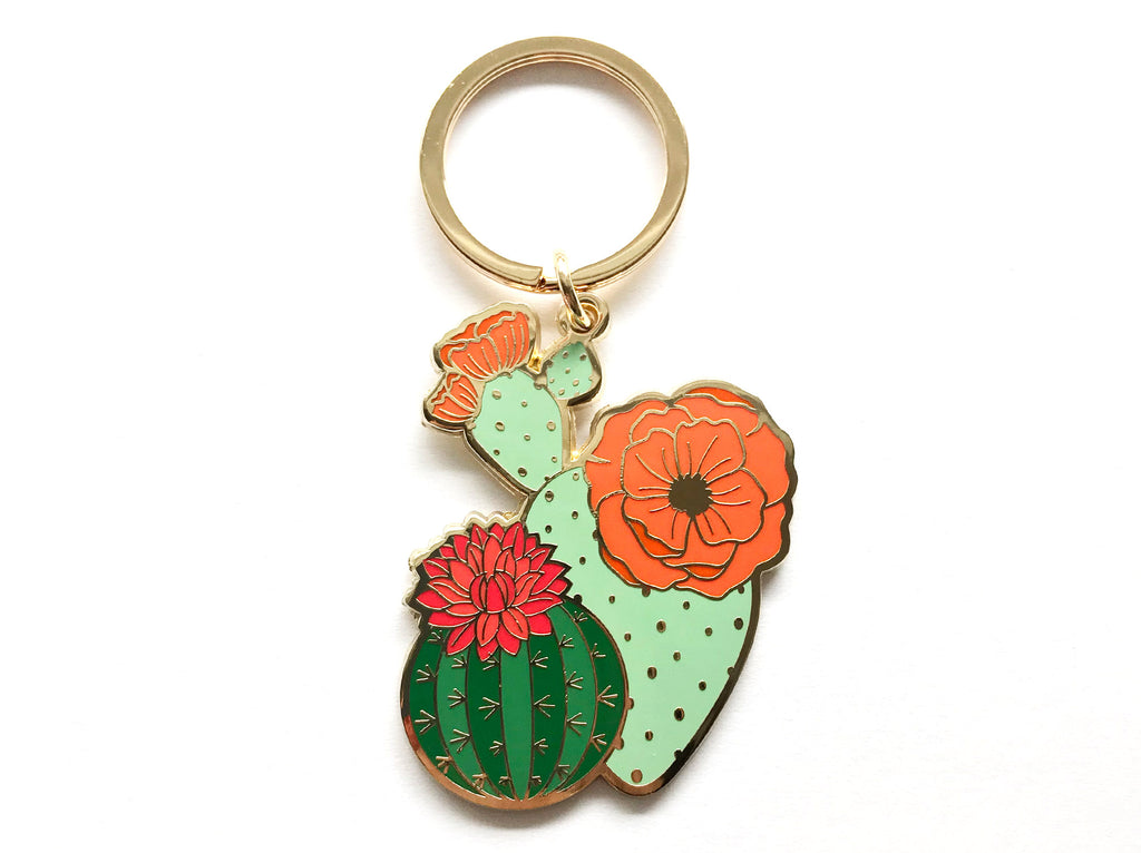 Blooming Cacti Keychain