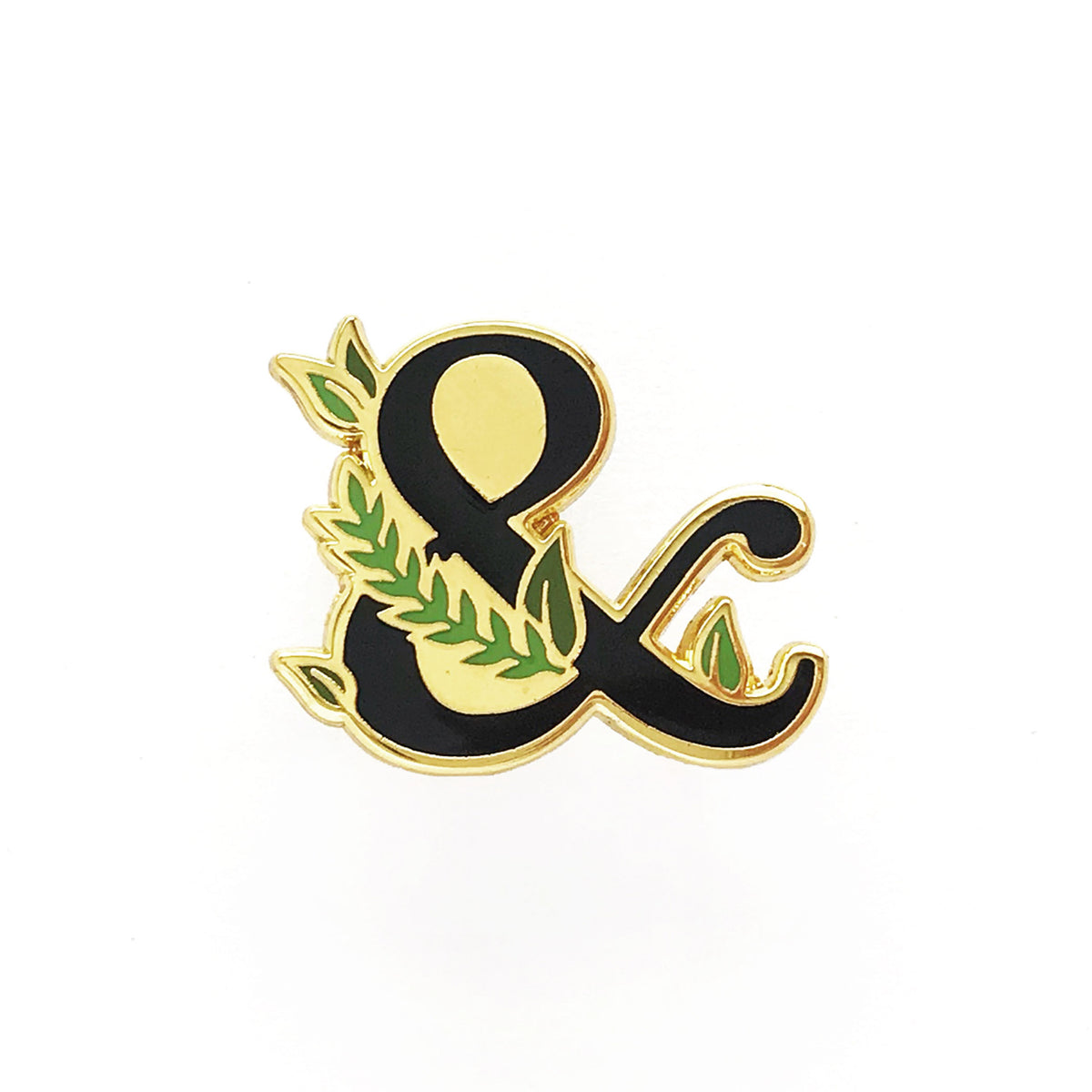 Leafy Ampersand Lapel Pin