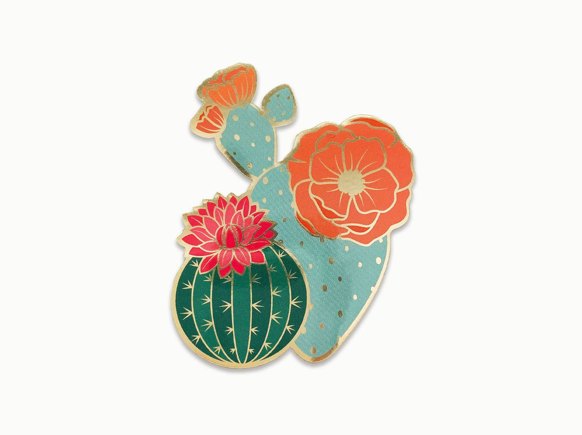 Blooming Cacti Sticker