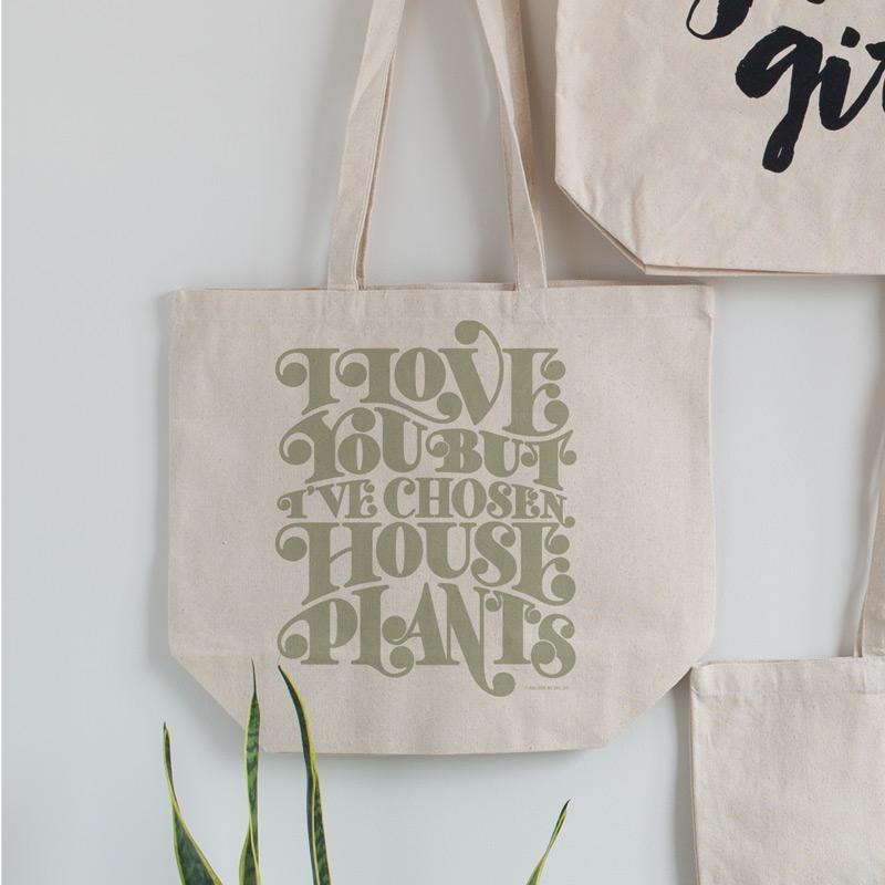 But Houseplants Tote Bag