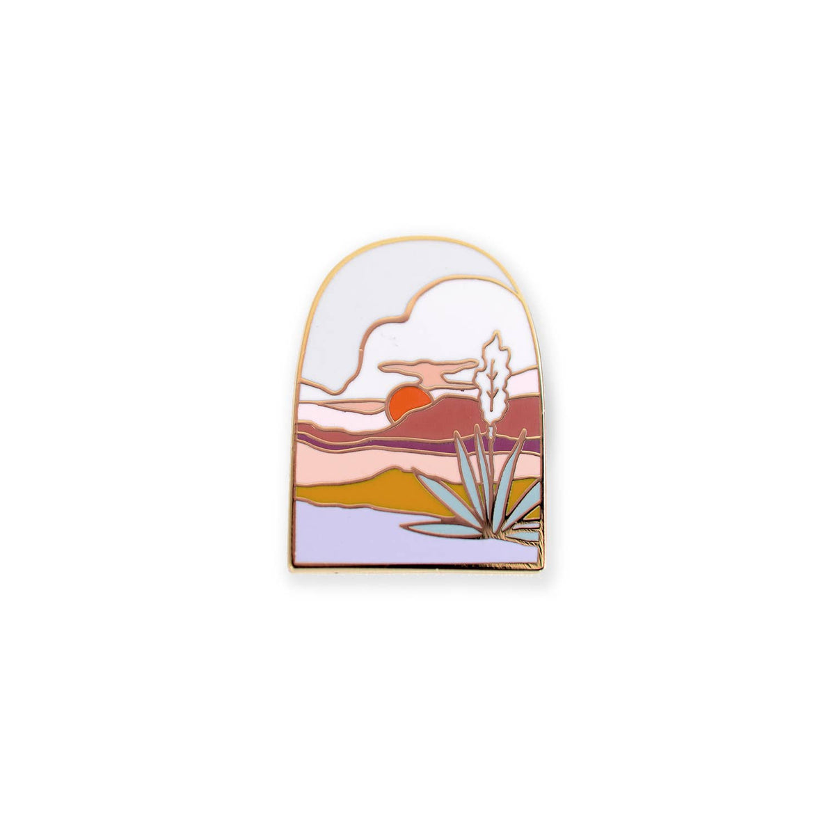 Agave Sunset Enamel Pin