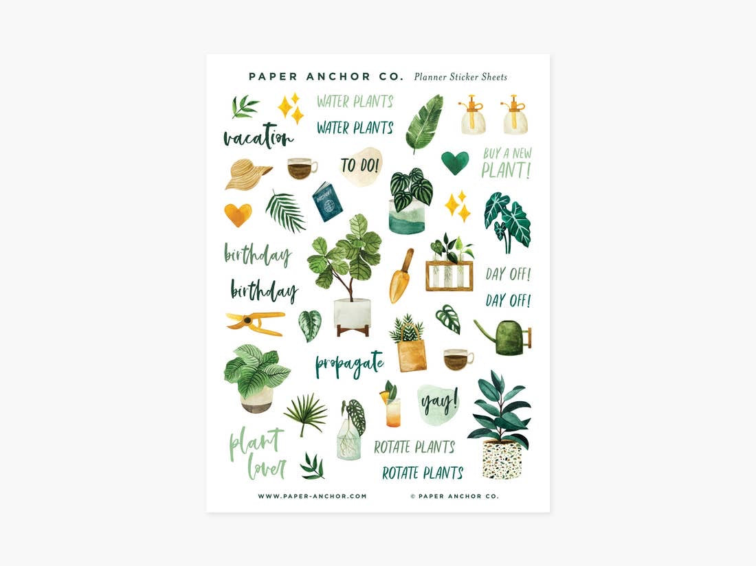 Plant Lover Planner Sticker Sheets