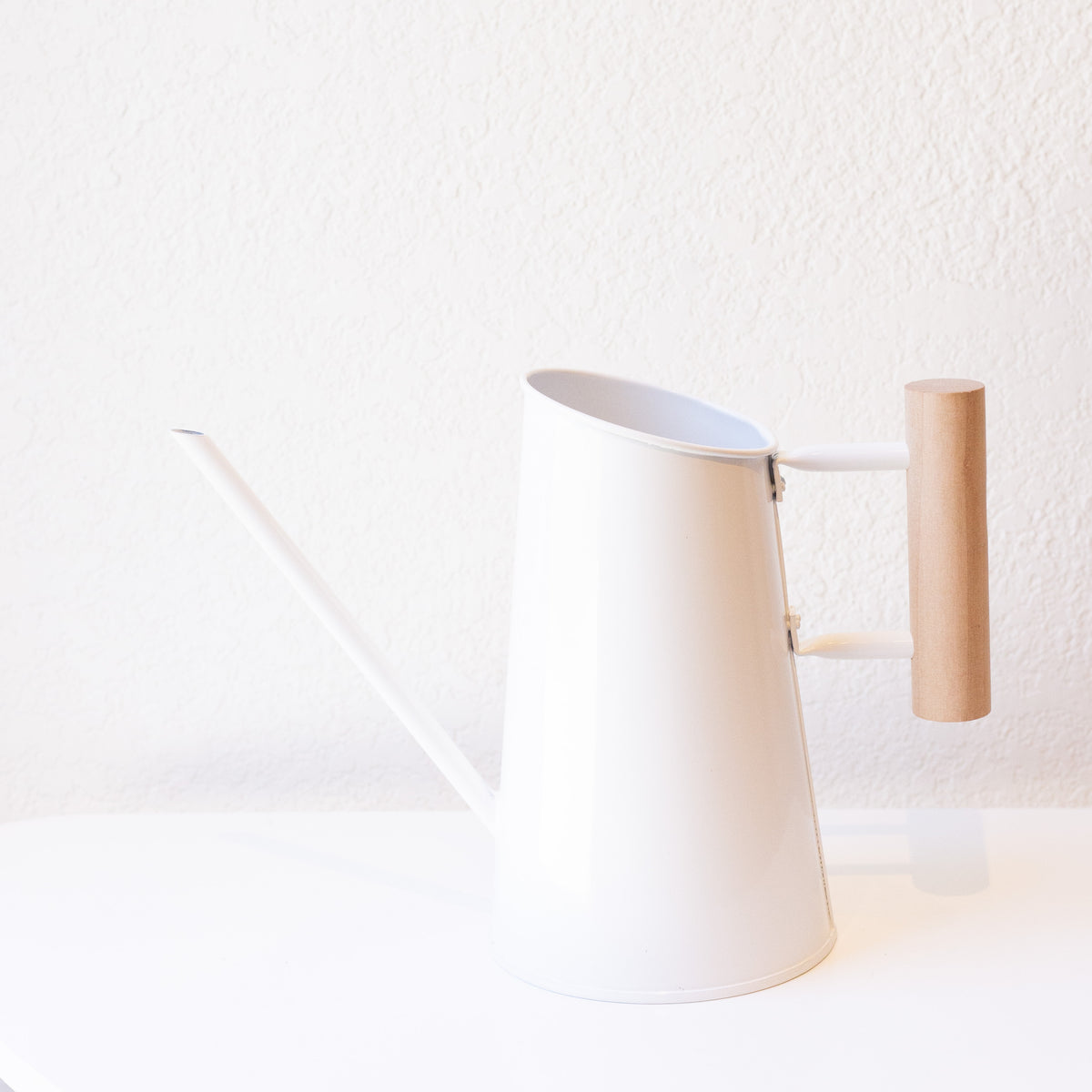 Minimalist White Watering Can