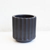 Cleo Black Ribbed Planter