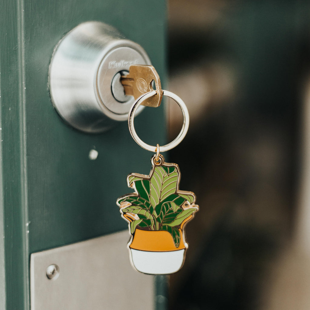 Paper Anchor Co. - Banana Leaf Keychain