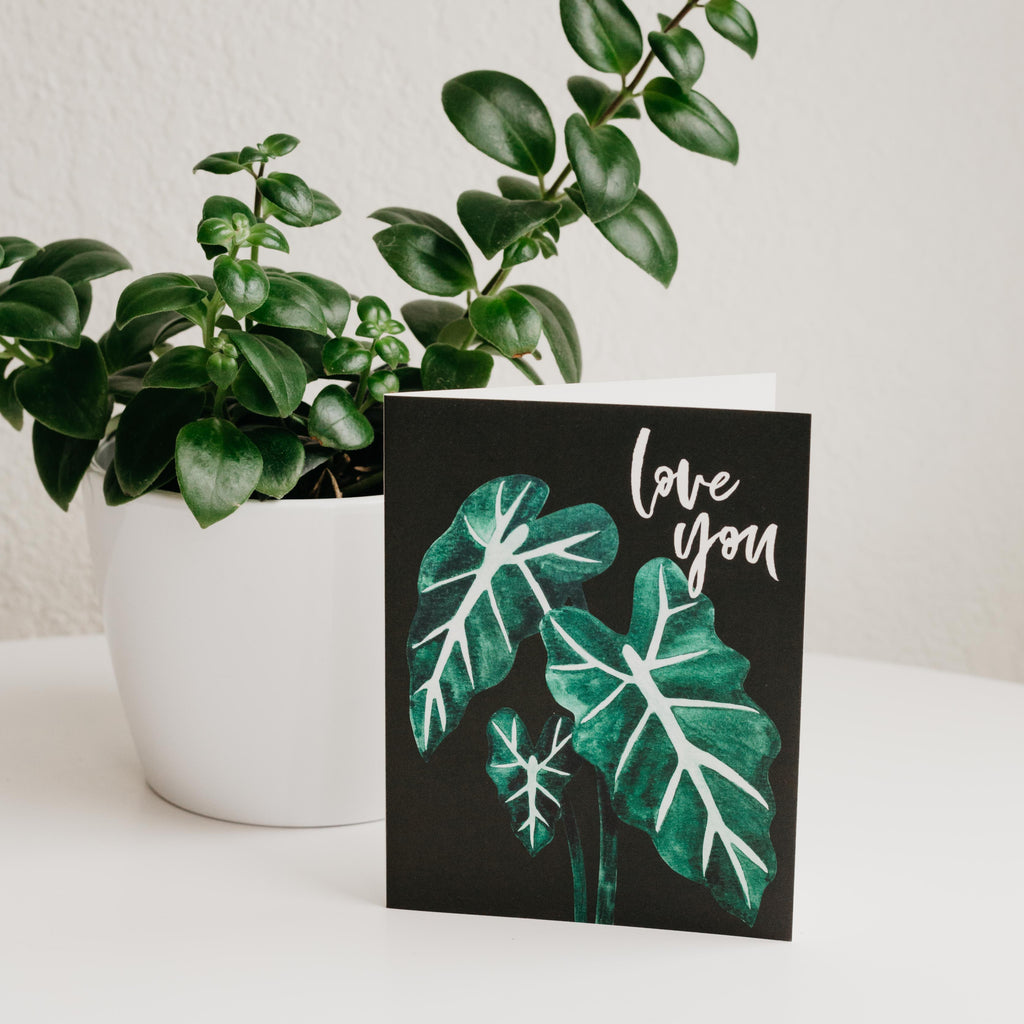Paper Anchor Co - Love You Alocasia Greeting Card