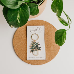 Paper Anchor Co. - Rubber Tree Keychain