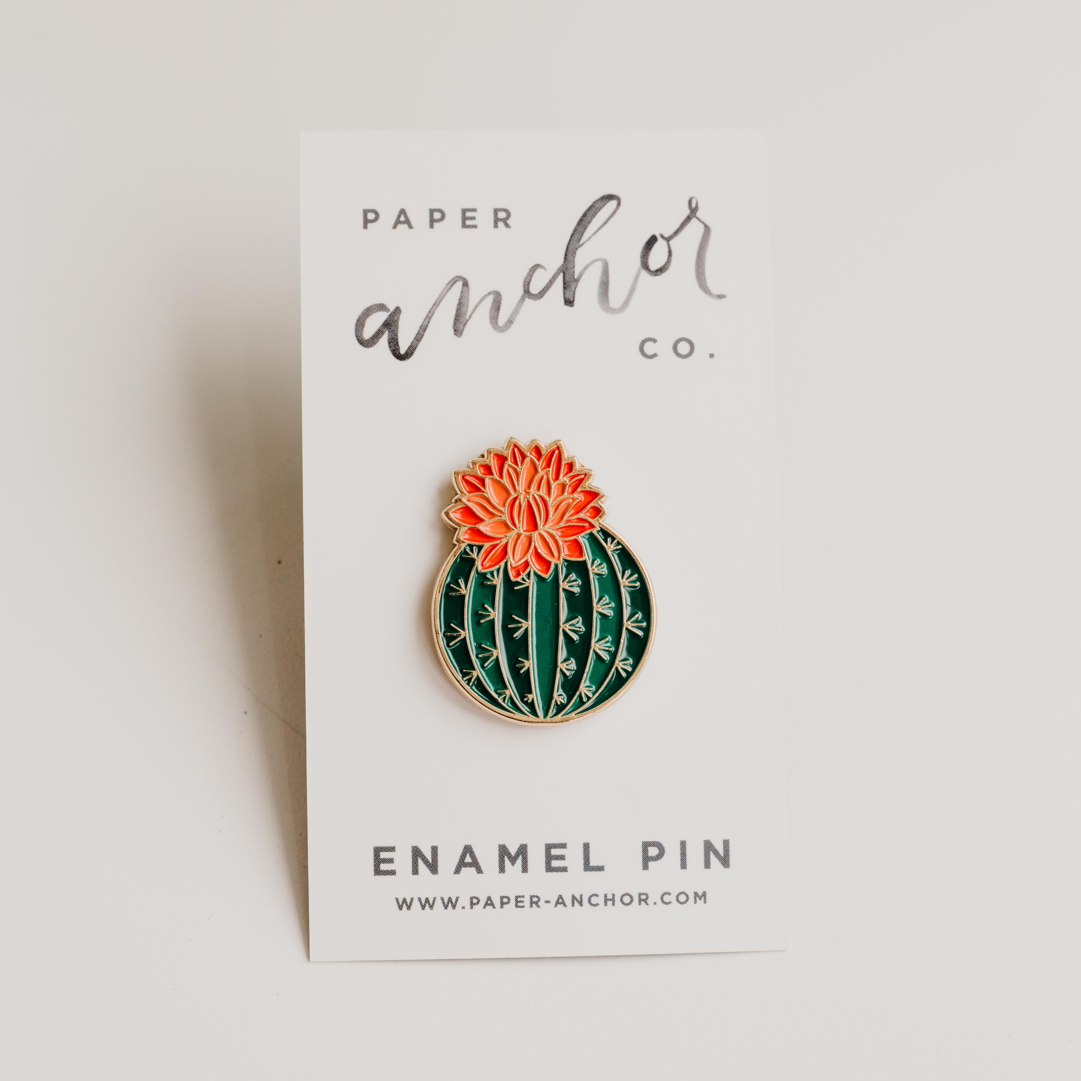Paper Anchor Co. - Julia Blooming Cactus Lapel Pin