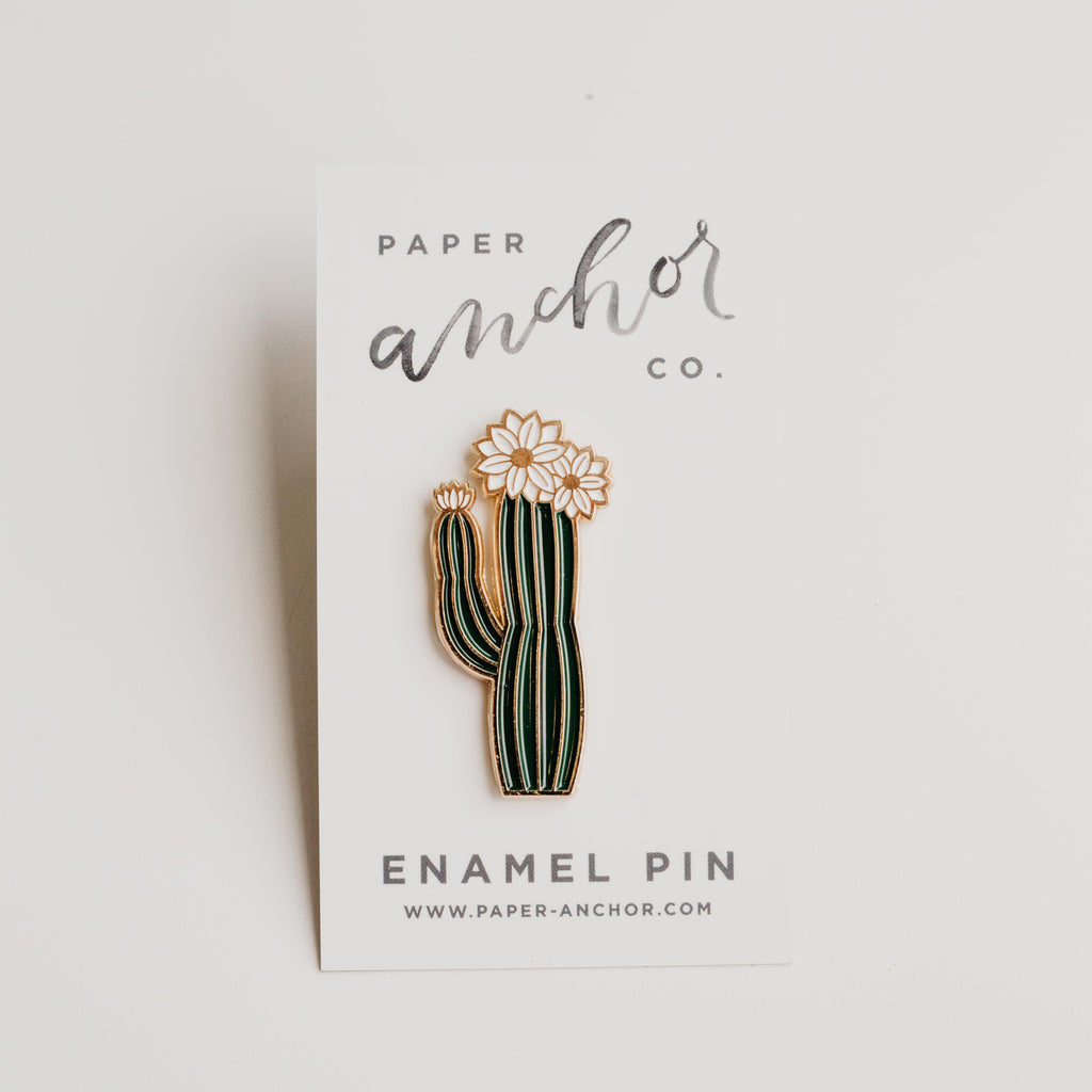 Paper Anchor Co. - Olivia Blooming Cactus Lapel Pin
