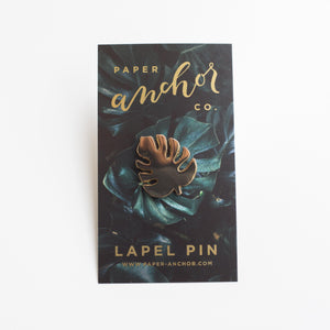 Paper Anchor Co. - Monstera Leaf Lapel Pin