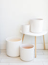 Cylinder Planter - White Large