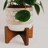 Boho Ceramic Pot With Stand