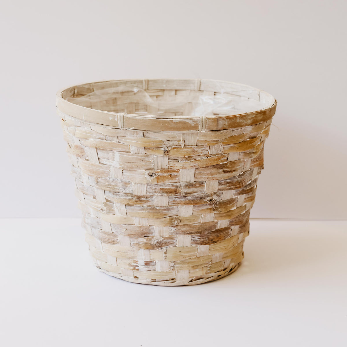 Washed Basket Planter Medium