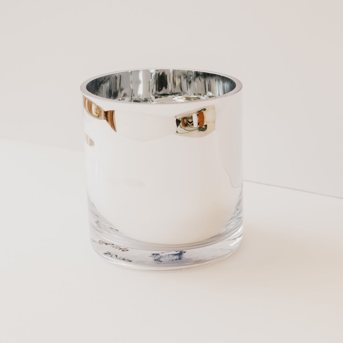 Silver Glass Cylinder